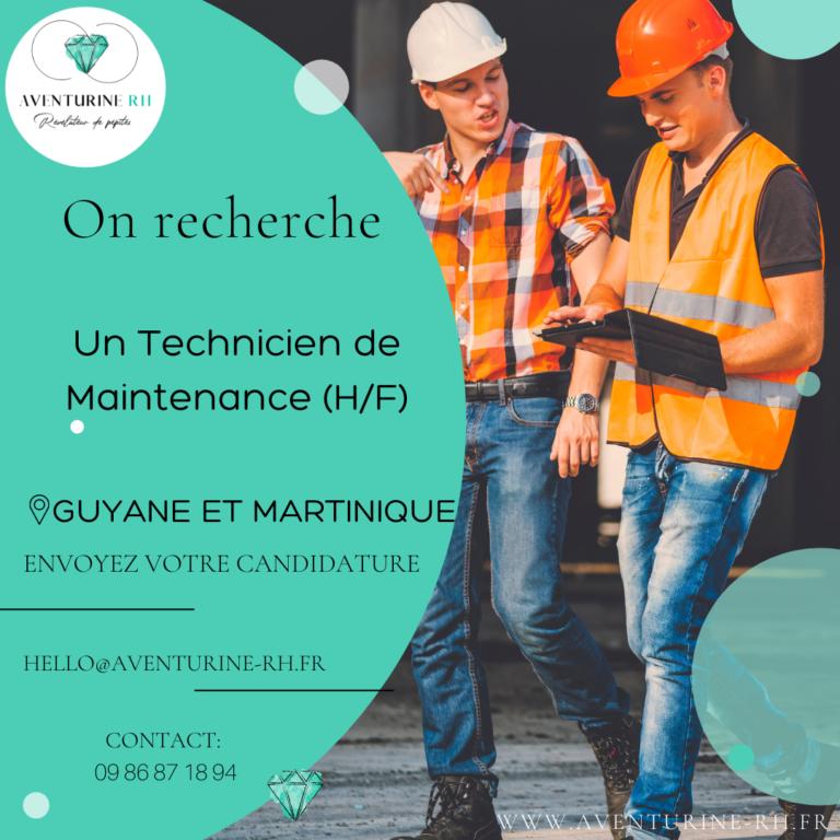 TECHNICIEN DE MAINTENANCE (H/F) EN MARTINIQUE