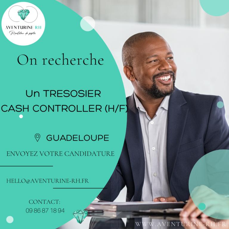 TRESORIER CASH CONTROLLER (H/F) EN GUADELOUPE
